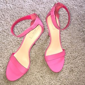 ALDO pink leather heel sandals,7/37!NEW & GORGEOUS